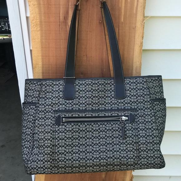 9bfa5848f0a3 Coach Handbags - Coach signature mini logo diaper tote bag
